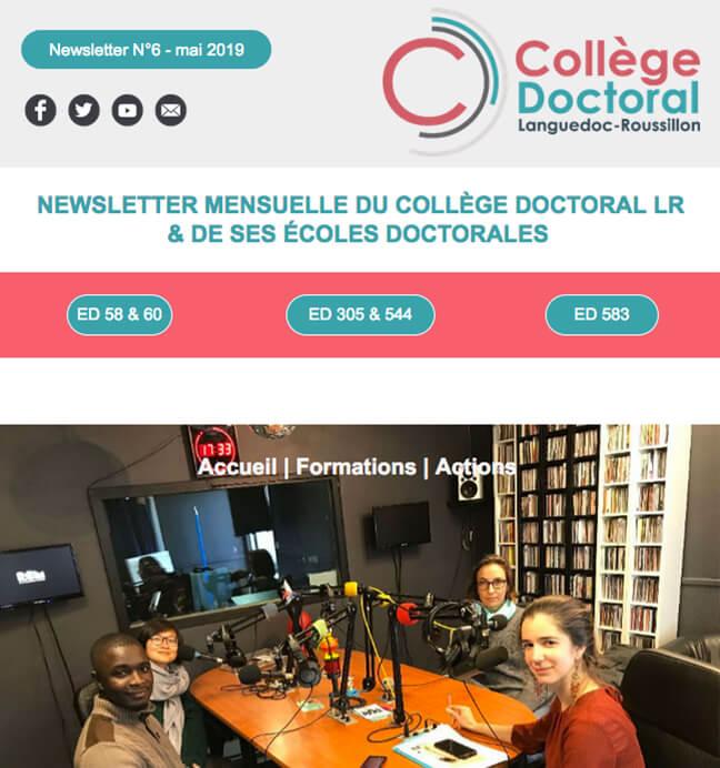Newsletter du Collège Doctoral N°6 - 14/05/2019