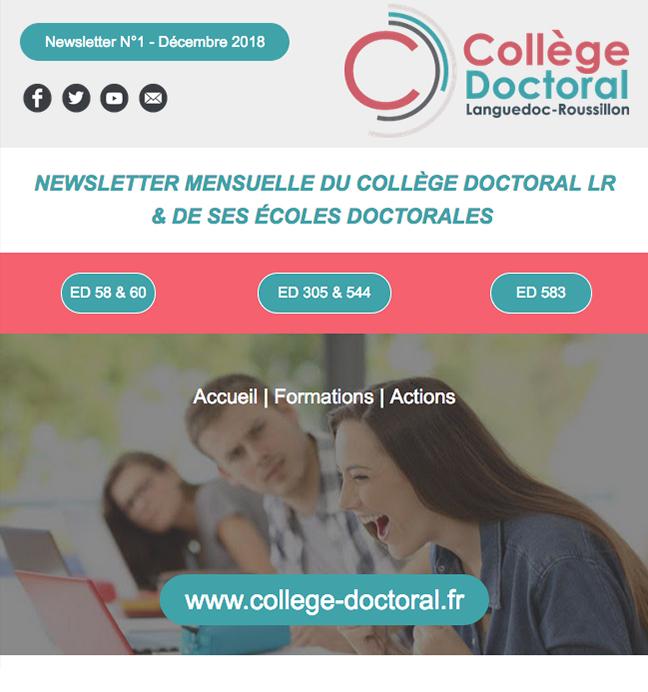 Newsletter du Collège Doctoral N°1 - 11/12/2018