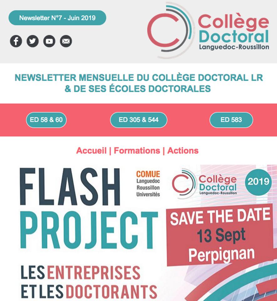 Newsletter du Collège Doctoral N°7 - 17/06/2019